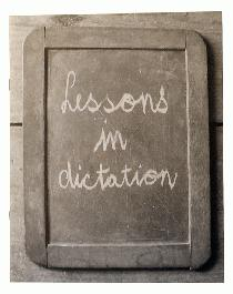 Lessons in Dictation - 1